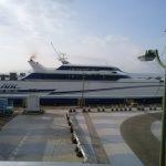 熊本港フェリーターミナルからフェリーに乗って長崎県島原市へGO